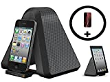 Xtrememac Speaker Dock Docking Station Alarm Clock Bundle Portable Travel Speaker Cradle Stand 30 Pin Connector (Mains or Battery) - iPhone 4 4S 3G 3GS 2G iPad 1 2 3 1G 2G 3G Touch 1 2 3 4 Nano 1 2 3 4 5 6G Classic Video - with iPhone Case (Stand/Clock w