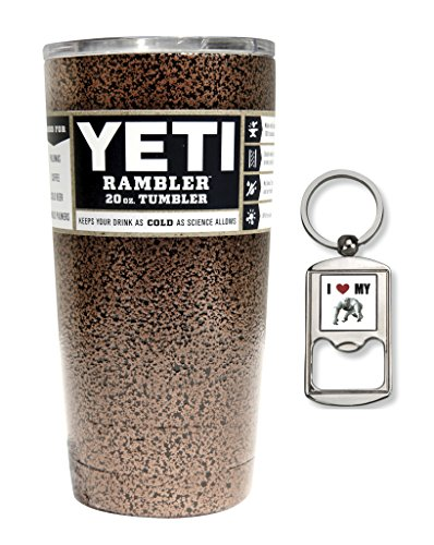 Yeti Coolers Custom Stainless Steel 20 oz Rambler Tumbler with Lid (Copper Vein)