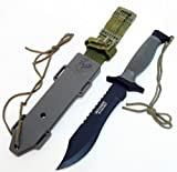 Elite Forces Survival Bowie Knife and ABS lined Tactical Sheath
