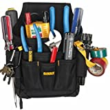 DEWALT DG5103 Small Durable Maintenance and Electrician's Pouch with Pockets for Tools, Flashlight, Keys (Color: Black, Tamaño: 1