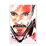 PosterGuy Iron Man Robert Downey Jr Inspired Fan Art Abstract Paint Poster (A4)