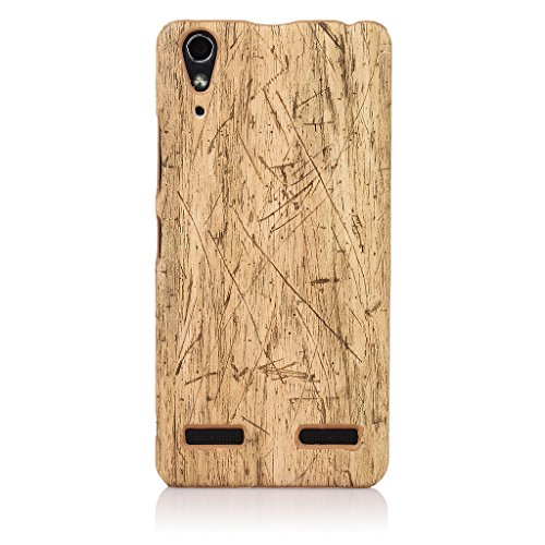 "ImagineDesign(TM) Premium Handmade "" Wooden Texture Collection "" Back Case Cover For LENOVO A6000 / A6000 PLUS (Beach Wood Pattern)"