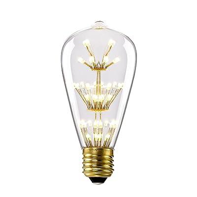 Kiven ST64 Vintage Edison Design A19 E26 2200K Warm White Retro