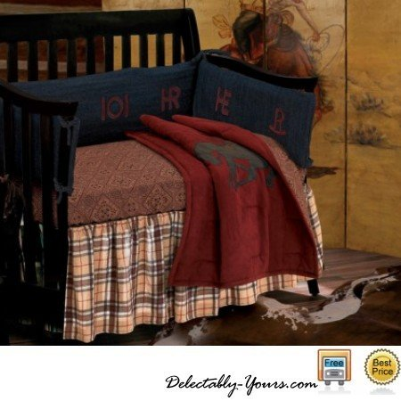 Cowboy Baby Bedding 8296 back