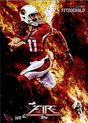 2014 Topps FIRE Football Card #51 Larry Fitzgerald - Arizona Cardinals MINT