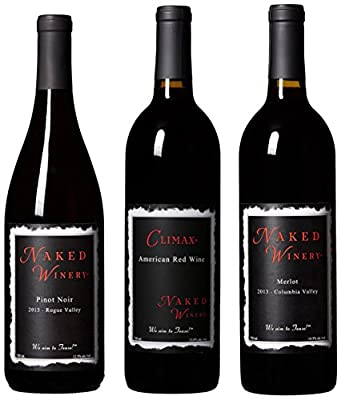 Naked Winery For Red Heads Only II Mixed Wine Pack, 3 x 750 mL