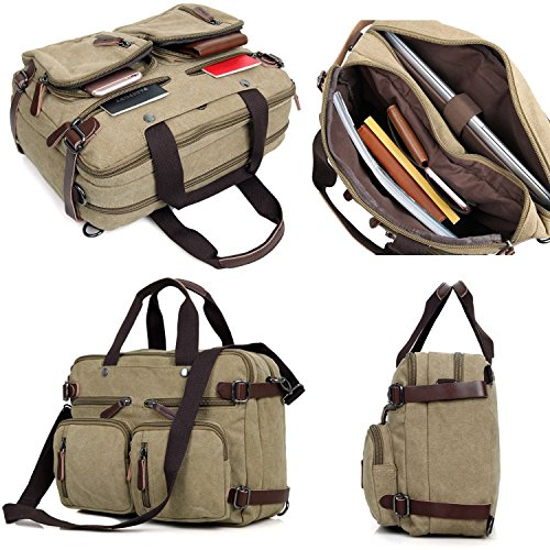 Clean-Vintage-Hybrid-Backpack-Messenger-Bag-Convertible-Laptop-Messenger-Backpack-Rucksack-BookBag-Daypack-Canvas