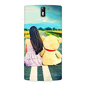 Cute Girl Teddy Multicolor Back Case Cover for One Plus One