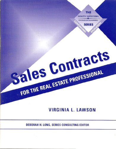 SALES CONTRACTS FOR THE REAL ESTATE PROFESSIONAL (Continuing Education Series (Mason, Ohio).)