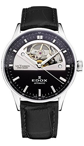 Edox-Womens-85019-3N-NIN-Les-Vauberts-Analog-Display-Swiss-Automatic-Black-Watch