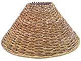 "13"" Round Cane Hanging Lamp Shade"