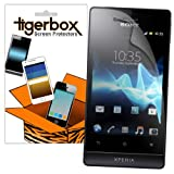 Tigerbox Crystal Clear LCD Screen Protector Cover Guard For Sony Xperia Miro Mobile Phone