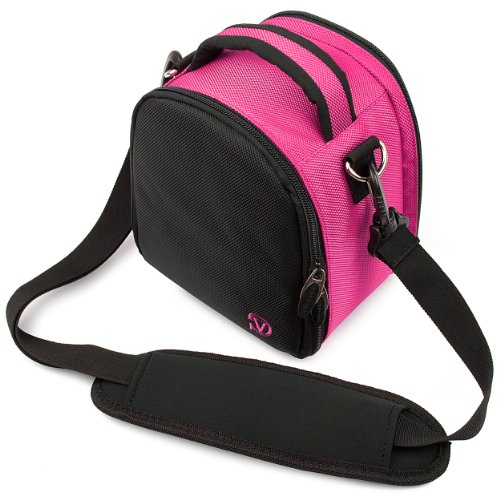 Vangoddy discount duty free Hot Pink VanGoddy Laurel SLR Camera Carrying Bag for Nikon D7200 24.2 MP DX-format Digital SLR Camera
