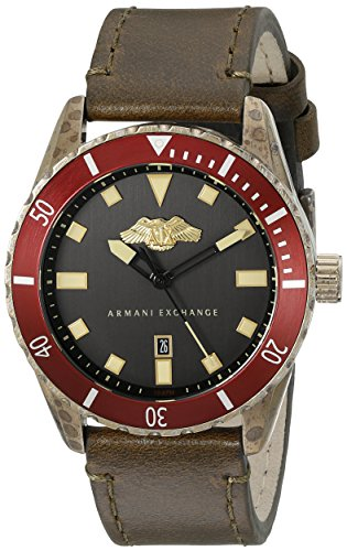 Armani-Exchange-Mens-AX1712-Analog-Display-Analog-Quartz-Brown-Watch