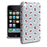 Shabby Chic Florals on Blue Phone Hard Shell Case for Apple iPhone 6 Plus 5S 5C 5 4 iPod & more - Apple iPhone 3/3GS