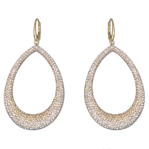 SwarovskiSwarovski Crystal Abstract Large Pierced Earrings