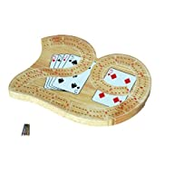 Mini 29 Cribbage Set – Solid Wood 2 Track Board with Metal Pegs