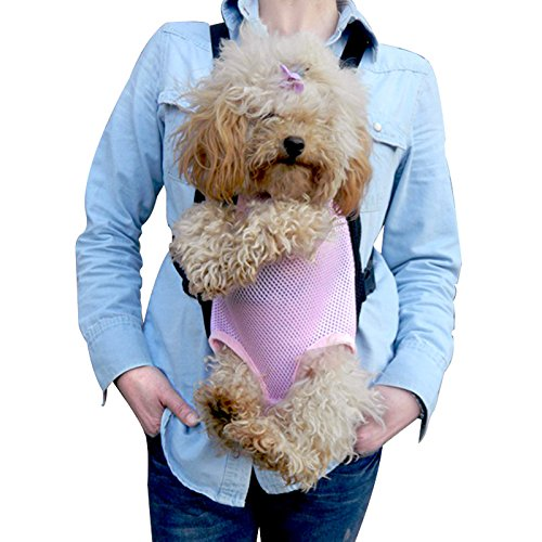 Anself Comfort Carrier Soft-Sided Pet Bag Dog Cat Carrier Five Holes Backpack Front Chest Backpack