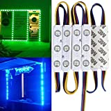 20FT Waterproof Colorful 5050 3 LED Light Module 12V RGB 120 LEDs With Remote Controller Power Plug for Outdoor Led StoreFront Signage Lighting (Color: Rgb)