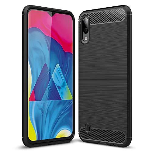 Samsung Galaxy A10 Case[not fit Galaxy A10e 5.8],Samsung Galaxy M10 Case,PUSHIMEI Soft TPU Brushed Anti-Fingerprint Full-Body Protective Phone Case Cover for Samsung Galaxy A10 6.2(Black Brushed) [+Peso($58.00 c/100gr)] (US.AZ.7.82-0-B07SCZCJ83.424)