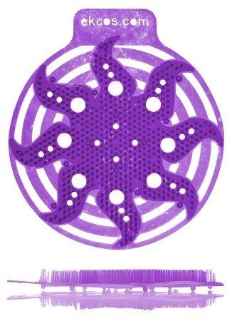 Ekco Power Screens Purple/Berry Anti-Splash Urinal Screens, 10/bx