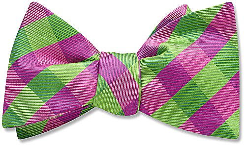 The Prepster, Pink Patterned bow tie,