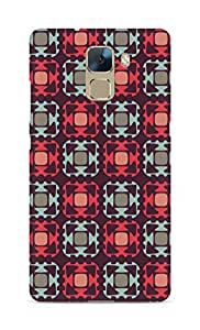 Amez designer printed 3d premium high quality back case cover for Huawei Honor 7 (Cells white black gray)