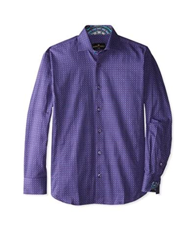 Bertigo Men's Dotted Long Sleeve Shirt