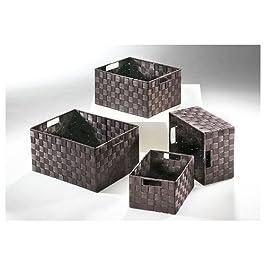 Il canestro di ripiano brunisce a forma quadrata nylon (insieme )