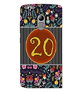 PrintDhaba Numerology Number 20 D-3108 Back Case Cover for LENOVO K4 NOTE A7010 (Multi-Coloured)