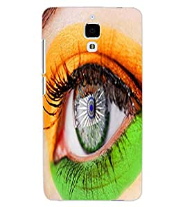 ColourCraft Amazing Eye Painting Design Back Case Cover for XIAOMI MI 4