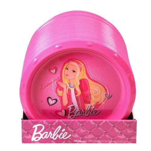 "Pink Barbie 8.5"" Round Plate - 1"