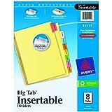 Avery Big Tab Insertable Dividers, 8-Tab Set (11111)