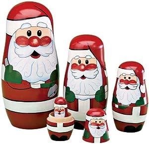 Santa Nesting Dolls by Miles Kimball