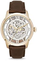 Fossil Townsman Automatic Leather Watch - Brown Me3043 by FOSSIL