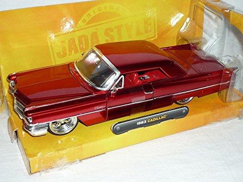 cadillac-de-ville-deville-coupe-hard-top-rot-1963-tuning-1-24-jada-modellauto-modell-auto-sonderange