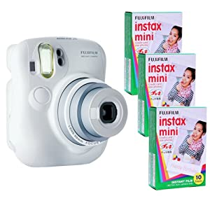 Fujifilm Instax Mini 25 Kit and 3 Fujifilm Instax Mini Film with 10 Exposures FU64-INM25WK30