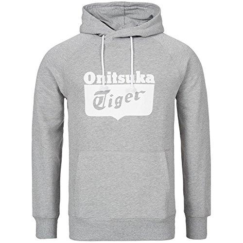Onitsuka Tiger Felpa Hoodie: Grigio Multicolore Gris XL
