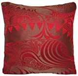Red Silk Cushion Cover Chinese Dragon Design Decorative Pillow Throw Case Osborne and Little Vintage Silk