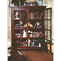 D-ART Library Cabinet Bookcase in Mahogany Wood