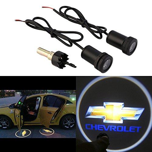 WONFAST® For CHEVROLET Car Auto Laser Projector Logo Illuminated Emblem Under Door Step courtesy Light Lighting symbol sign badge LED Glow Performance (Chevy Impala Front Emblem compare prices)