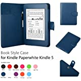 Elsse Premium Case For Amazon Kindle Paperwhite (Styli NOT included) (Support Smart Cover Function) (Paperwhite, Dark Blue)