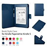 Elsse Premium Case For Amazon Kindle Paperwhite (Styli NOT included) (Support Smart Cover Function) (Paperwhite, Dark Blue) ~ Bear Motion