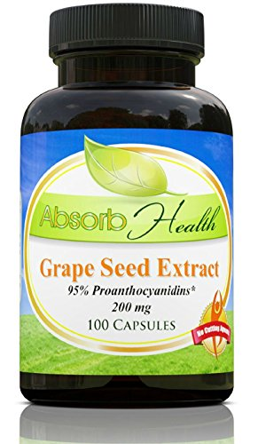 Grape Seed Extract | 200mg | 100 Capsules | 95% OPC Flavanoids | Highly Potent (Nature Pearl Muscadine Juice compare prices)