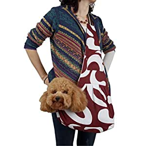 Outward hound new pet sling style carrier dog cat sling bag stylish brown and white - Pattern for dog carrier sling ...