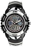 【貞恵】TEIKEI 腕時計 子供用スポーツウォッチ 多機能 デュアルタイム アナデジ表示 0998 シルバー