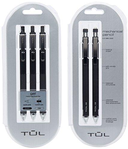 tul-gel-pens-black-3-count-tul-mechanical-pencils-2-count-school-supplies-bundle