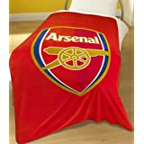 Zap Arsenal Red Crest Fleece Blanketby Linens Limited