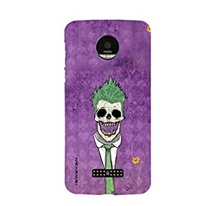 iSweven MotoZ_1151 Printed high Quality Joker_purple_and_green Design Back case cover for Motorola Moto Z
