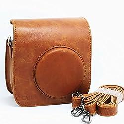 CAIUL PU Leather Fujifilm Fuji Mini 25 Film? Fuji Instax Mini 25 Case---Brown